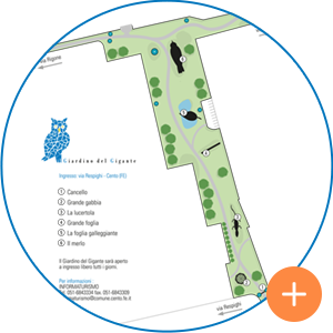 La mappa del Giardino del Gigante